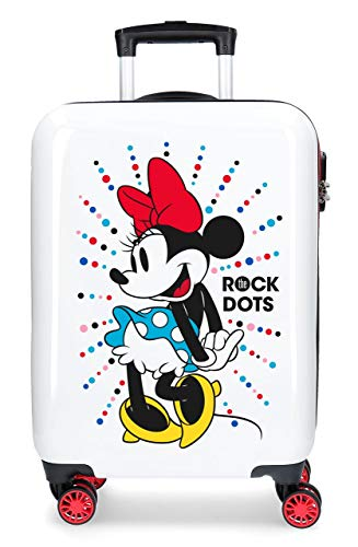 Disney Magic Equipaje Infantil, 55 cm, 33 litros, Blanco
