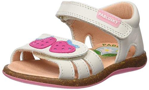 Pablosky Mädchen 013002 Sandalen, Knochen (1), 24 EU (Sandale Leder Knochen)