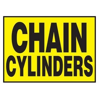 Accuform Signs Lcpg511vsp Label Chain Cylinders 3.5x5 Adh Vnl 5/pk