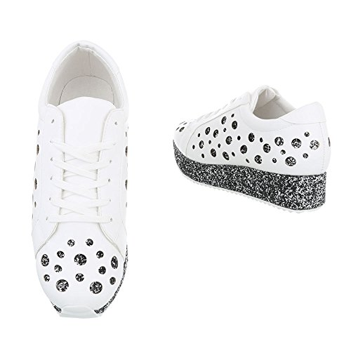 Ital-Design - Low-top Donna Bianco argento
