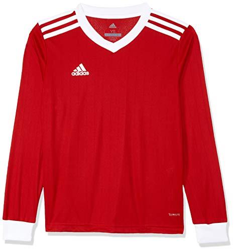 adidas Herren TABELA 18 JSY L Long Sleeved T-Shirt, Power red/White, 7-8Y -