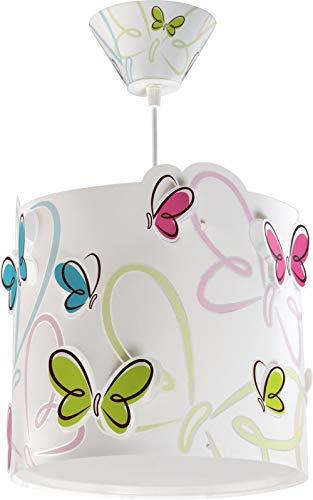 Dalber 62142 Farbige Schmetterlingen Hängeleuchte (Mädchen Hängelampe)