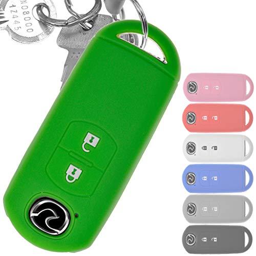 Soft Case Schutz Hülle Auto Schlüssel Key Cover Keyless Grün für Mazda 2 3 6 CX-3 CX-5 MX-5 2 Tasten - Control-taste 2