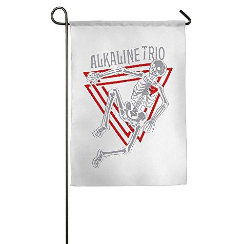 (Alkaline Trio matt SKIBA Dan Andriano American Garten Flaggen, unisex, weiß)
