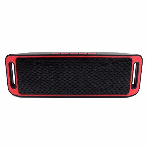 Detome Bluetooth Lautsprecher Radio Bluetooth Lautsprecher Subwoofer portable Mini Stereo Sound, Rot