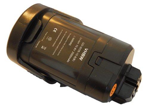 vhbw Li-Ion Akku 2000mAh (10.8V) für Werkzeug Dremel 8200, 8220, 8300 wie B812-01, B812-02.
