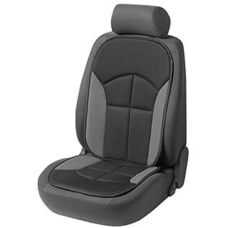 Walser 12447 Autositzauflage Novara | Universelle Sitzauflage und Schutzunterlage in Schwarz/Grau | Sitzschoner für Pkw und Lkw