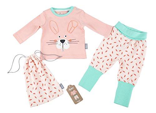 Sigikid Mädchen Zweiteiliger Schlafanzug Pyjama, Baby, Rosa (Blossom 647), 92