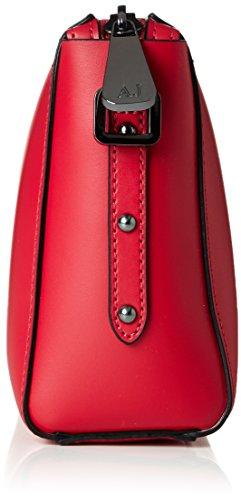 Armani Jeans9 221767p757, Borsa a tracolla Donna, 9x16x21 cm (B x H x T) Rosso (GERANIO 08873)