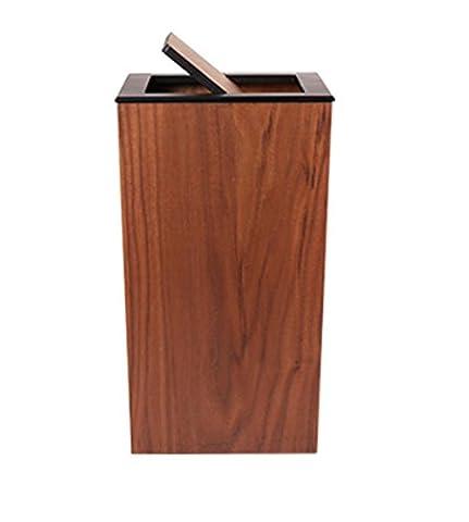 GAOCF Lager Fässer Mülleimer Gerüst Sanitation Mülleimer Fuß Auf Den Müll Medizinische Mülleimer Pedal Müll Müll Kann Zu Hause Gebrauch Büro Hotel Lagerfässer Kein Deckel Naturholz Abfalleimer