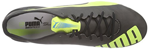 Puma Evospeed Sl Fg, Chaussures de football homme Noir - Schwarz (black-safety yellow-white 08)