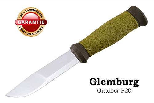 Glemburg Outdoormesser | Jagdmesser | Universalmesser | Gartenmesser | Gürtelmesser | Taschenmesser | Freizeitmesser | Edelstahl mit GRATIS Hülle