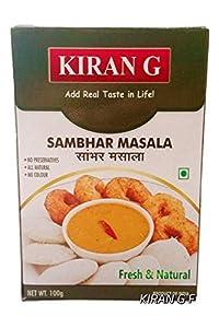 Kiran G Sambhar Masala (100 Grams Each x Pack of 2) Real Southern Indian Taste