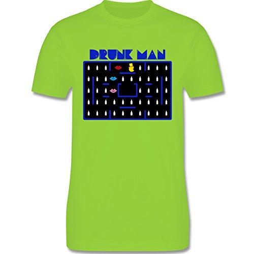 JGA Junggesellenabschied - Drunk-Man JGA - Herren Premium T-Shirt Hellgrün