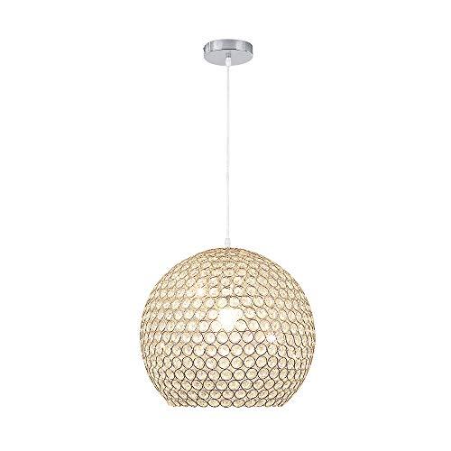 Lampadario a sospensione in cristallo Ø40cm, lampada a soffitto ciondolo regolabile con elegante paralume e27 (lampadina non inclusa)