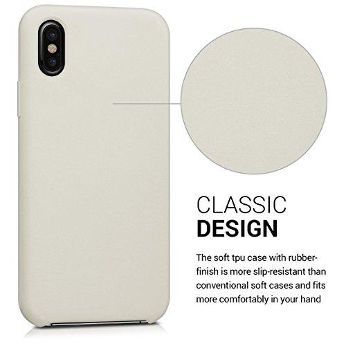 kwmobile Cover per Apple iPhone X - Custodia in silicone TPU - Back case protezione posteriore per cellulare rosso scuro metallizzato .beige