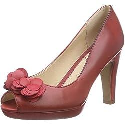 Stockerpoint Schuh 6090, Damen Peep-Toe Pumps, Rot (rot), 36 EU