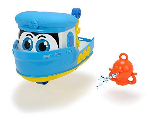 Dickie Toys 203814006 Happy Boat, Spielzeugboot für Kleinkinder inkl. Krake mit Wasserspritzfunktion, 25cm