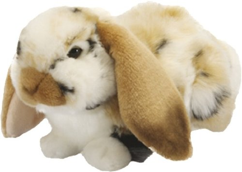 Living Nature British Wildlife Realistic Dutch Lop Ear Rabbit Soft Toy - Brown