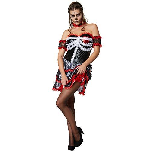 dressforfun 900418 - Damenkostüm gruselige Geliebte, Trägerloses Kleid mit Rock aus Mehreren Lagen Spitze (XL   Nr. 302018)
