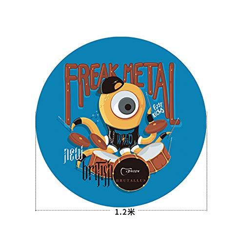 QING.MUSIC Percussion accessories Trommelteppichmatte Anti-Rutsch-Schalldämmung Jazztrommel spezielle elektronische Trommeldecke Verdickung Stoßdämpfer Fußpolster Schlagzeug,D,1.2m