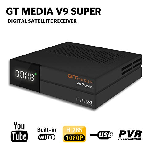 GT Media V9 Super DVB S2 Satelite Ricevitore Decodificador Oficial Freesat...