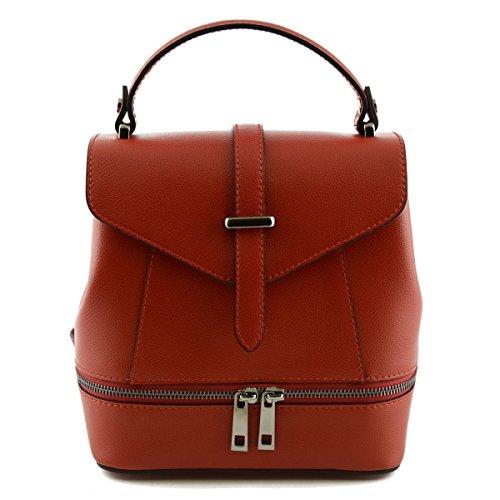 Borsa Donna In Vera Pelle Colore Rosso - Pelletteria Toscana Made In Italy - Borsa Donna