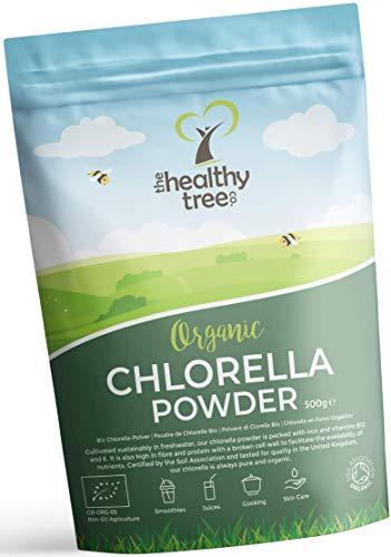Bio Chlorella-Pulver - Reich an Chlorophyll, Protein und Aminosäuren - Perfekt in grünen Säften und Smoothies - Reines Bio Chlorella-Pulver mit britischem Bio-Siegel von TheHealthyTree Company -