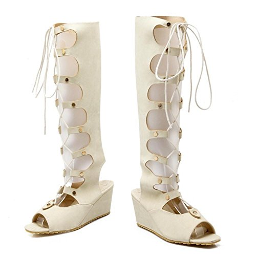 TAOFFEN TAOFFEN TAOFFEN Gladiateur Femmes Femmes Chaussures Beige Femmes Gladiateur Beige Chaussures ww7rY