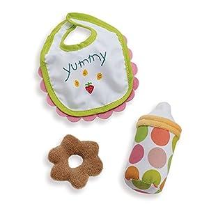 Manhattan Toy Baby Stella Feeding Set Accesorio para muñeca Color Blue/White/Green/Brown/Orange
