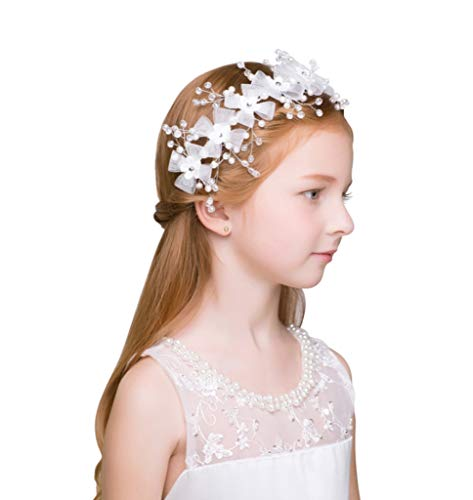 ZQZSDT Kranz, Kind Krone Haarschmuck Mädchen Kopfbedeckung Prinzessin Krone Stirnband Stirnband Haarschmuck anzeigen