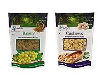 AXIUM Combo 500gm Each (Pack of 2) Raisins, Cashews