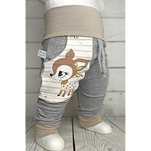 Baby Pumphose mit Tasche Hafenkitz Sweety handmade Puschel-Design