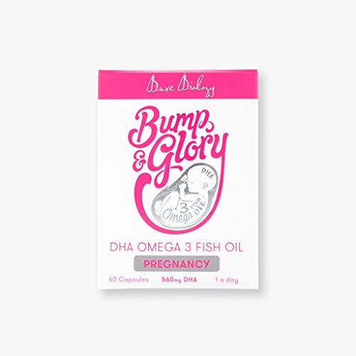 Bare Biology Bump and Glory DHA Pregnancy Omega 3 Capsules - Pack of 60