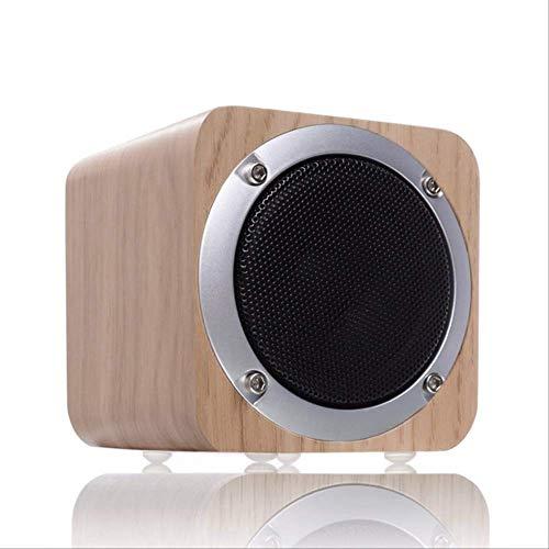 er Retro Holz Bluetooth-Lautsprecher Kabelloser Subwoofer Stereo-Lautsprecher mit FM-Radio-Zusatz-Tf-Karte MP3-Musik-Player HolzWeißeiche ()
