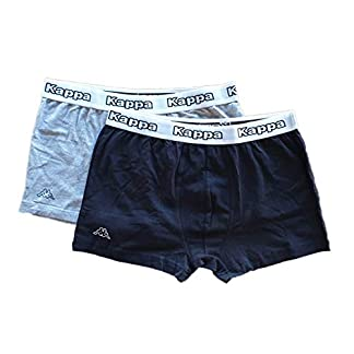 Kappa Boxer Pantalón Corto Calzoncillos de 2Unidades tamaño XL Gris