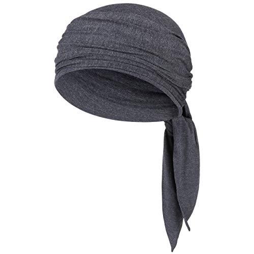Christine Headwear Christine Headwear Mantra Bambus Uni Turban Kopftuch Damenturban Chemo-Kopfbedeckung (One Size - blau-meliert)