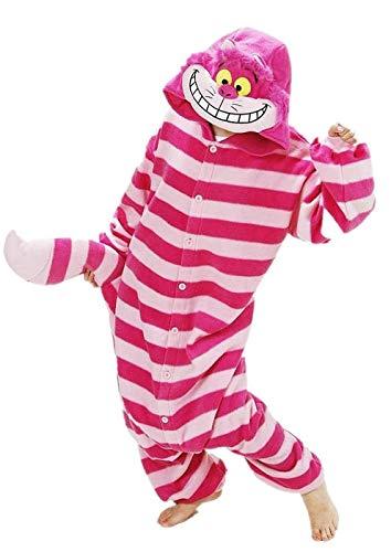 Sweetheart -lmm christmas stregatto kigurumi in pile con cappuccio pigiama tutina animale cosplay costume unisex adulto unisex tutina taglie forti, large