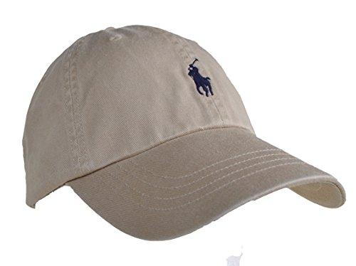 Ralph Lauren Polo Baseballkappe mit Pony - Khaki - Einheitsgröße