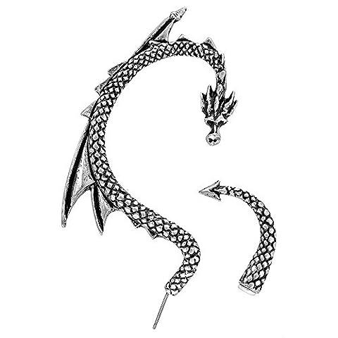 Alchemy Gothic Bijou en métal Le Leurre du Dragon Boucle d'oreille