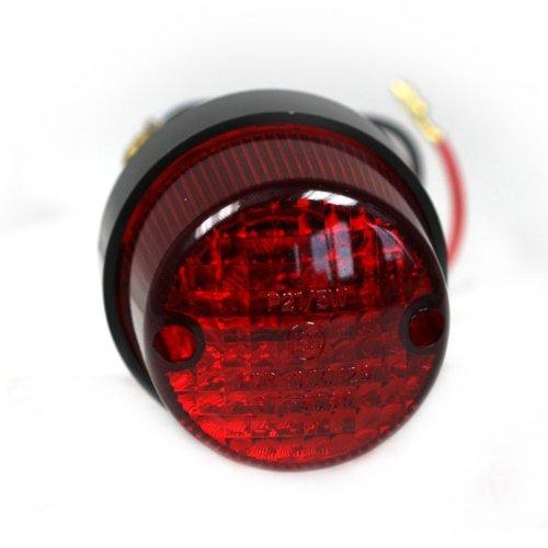 Preisvergleich Produktbild Motorrad Rücklicht Point-Mini, schw. Gehäuse, ohne Halter, Schraubenabstand: 40mm, mit KZB, E-geprüft
