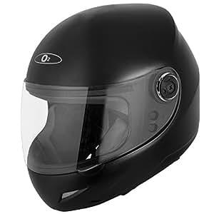 Autofy O2 Full Face Helmet With Scratch Resistant Transparent Visor (Matte Black,M)