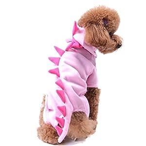 Angelof Vetement Chien/Chat Accessoires Pour Chiot Manteaux Habits Sweats à Capuche Chiot Costume Soft Jacket