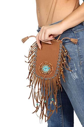 Wilbers Kostüm Zubehör Tasche Handtasche Indianerin Hippie Karneval Fasching (Handtasche Kostüm Zubehör)