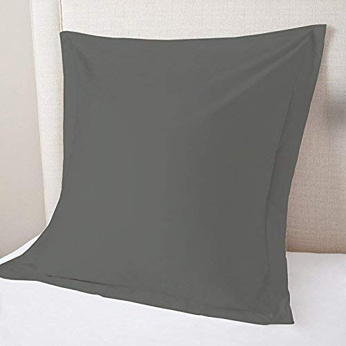 US Comfort Zone Kissenbezug, quadratisch, ägyptische Baumwolle, Fadenzahl 500, 66 x 66 cm, 2 Stück, Dunkelgrau -
