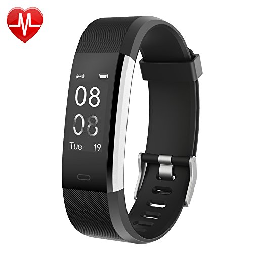 YAMAY Fitness Armband Uhr mit Pulsmesser,Wasserdicht IP67 Fitness Tracker Aktivitätstracker Pulsuhren Bluetooth Smart ArmbandUhr Schrittzähler mit Schlafmonitor Kalorienzähler Vibrationsalarm Anruf SMS Whatsapp Beachten kompatibel mit iPhone Android Handy