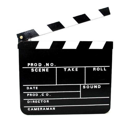 Holz Regieklappe, 30 x 27 cm, Partyknaller, Kostüm, Filmklappe (06-4021)