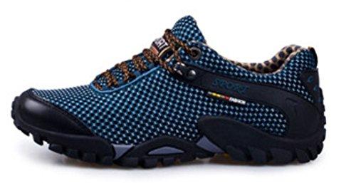 DADAWEN Homme chaussures d'escalade en plein air Bleu