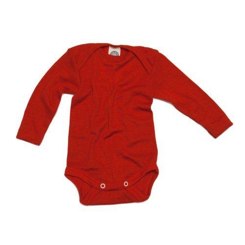 Cosilana Baby Body Wollbody®, Größe 62/68, Farbe Rot - Wollbody®GmbH