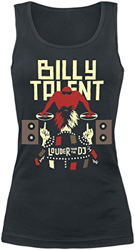 Billy Talent Louder Than The DJ Top donna nero XXL